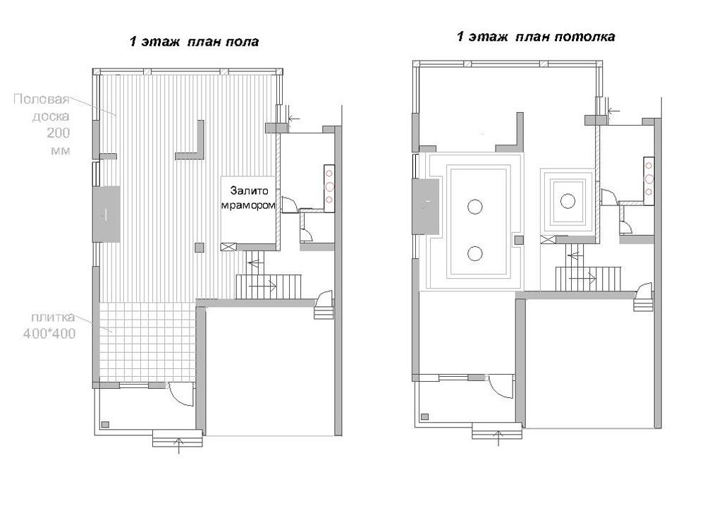 План пола и потолка