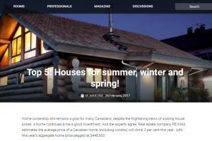 homify.ca: Top 5: Houses for summer, winter and spring!