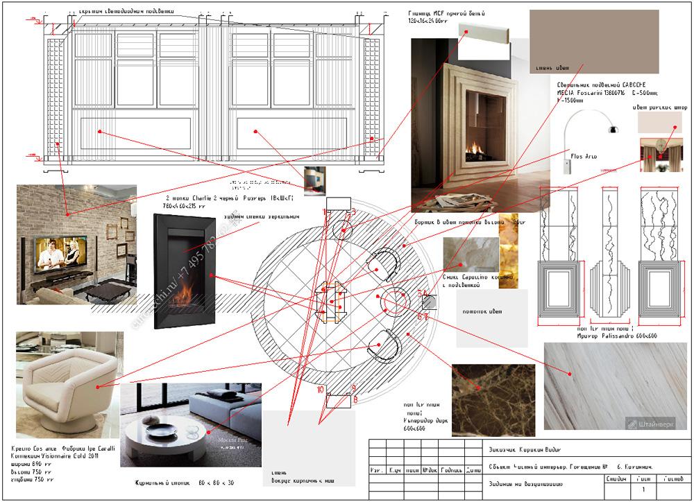Принципиальный подбор материалов, оборудования, задание для визуализации
