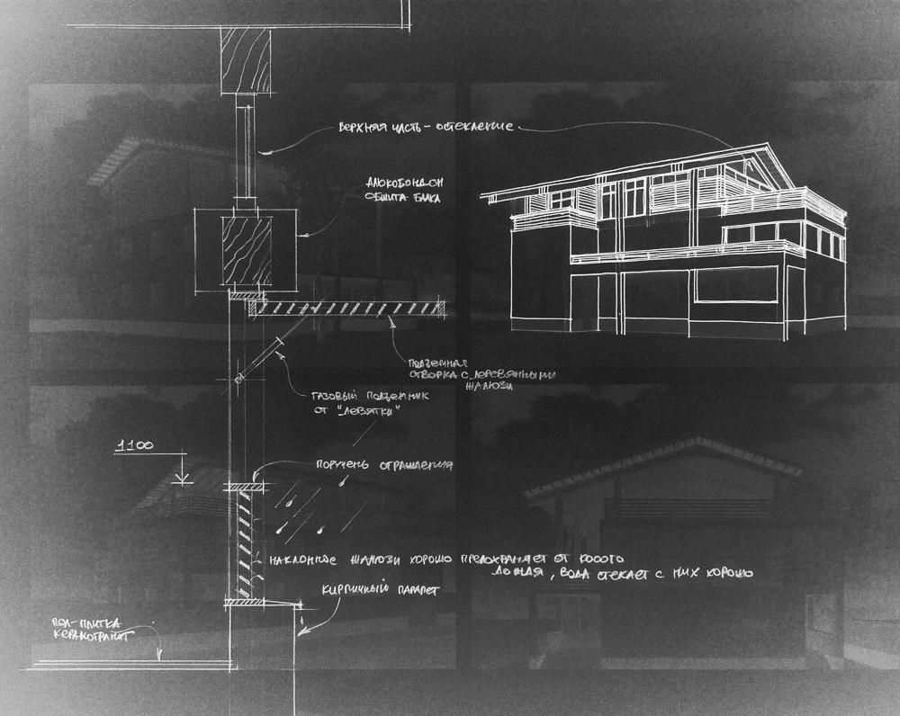 Схема-узел деталей оформления фасада