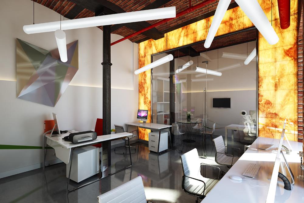 Проект дизайн интерьера офиса 57